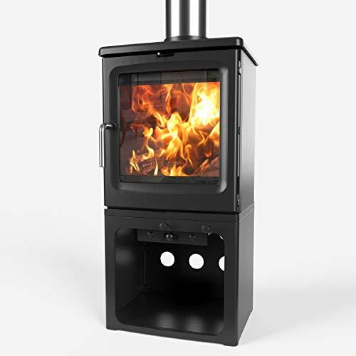 Saltfire Peanut 5 Tall Wood Burner Stove 5kW DEFRA Approved EcoDesign Clean Burn High Efficiency...