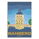 ASFGH Bamberg Germany Vintage Reise Poster Dekor Gemälde