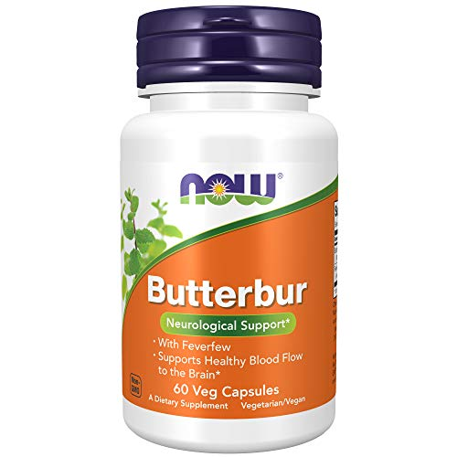 NOW Foods Supplements, Butterbur with Feverfew, Neurological Support, 60 Veg Capsules, Multi (4602)