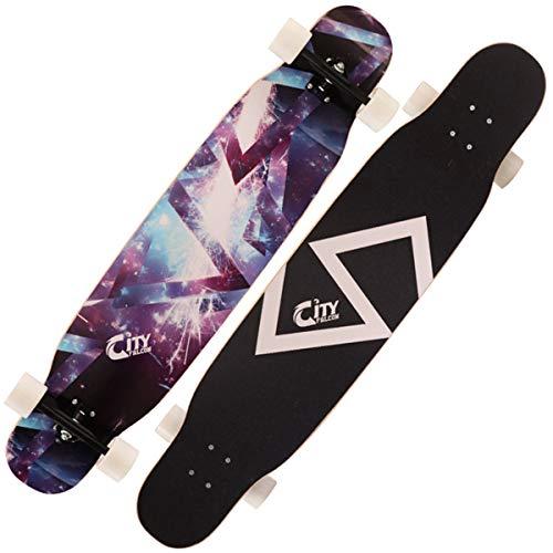 AYYSHOP 46 Zoll Freeride Skateboard Longboard - Kompletter Skateboard Cruiser Für Cruising, Carving, Free-Style Und Downhill, Longboards Für Teenager Anfänger Mädchen Jungen Kinder Erwachsene,C