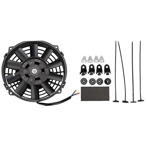 Madlife Garage Radiador de aspas eléctrico, Universal, diseño Delgado, para refrigeración del Ventilador del Motor, 17,78cm, 12V, 80W