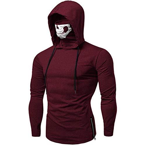 SANFASHION Männer Sweatshirt Langarm Herbst Winter Herren Kapuzenpullover | Sale | Casual Sweatshirt Hoodies Top Bluse Trainingsanzüge