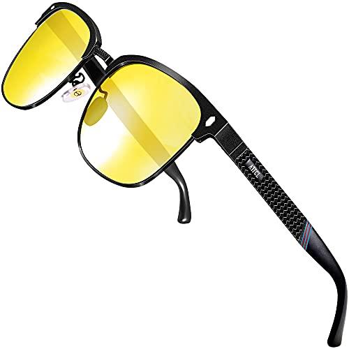 ATTCL Gafas de conducción nocturna para hombres Estructura De metal Al-Mg 8-188 Night Vision