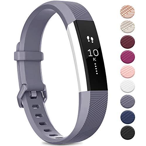 Yandu Armband kompatibel für Fitbit Alta HR/Fitbit Alta, Armband für Damen und Herren, verstellbares Sportarmband für Fitbit Alta HR/Fitbit Alta (ohne Uhr) (grau, groß)