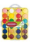 FIBRACOLOR ACQUERELLI in pastiglie diametro 30 mm. - Scatola 24 colori
