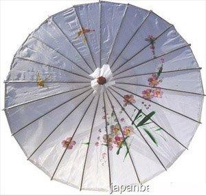 Japanese Chinese Umbrella Parasol 32in White 156-15