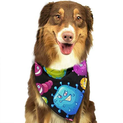 FunnyStar Hond Bandana Kleurrijke Virus Sjaals Accessoires Decoratie voor Huisdier Katten en Puppies