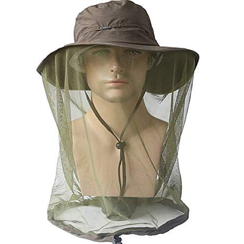 Fashion Outdoor 360 Anti-Mosquito Sombrero de Mujer para Recoger Miel Selva Escalada Escalada...