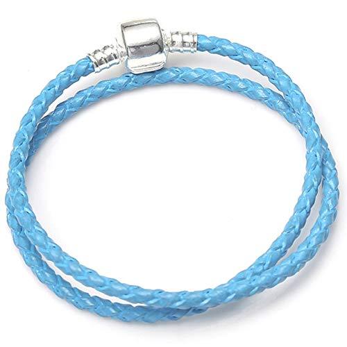MZFRXZ Damesarmband, kristal, 10 kleuren, geweven, lederen bedelarmbanden voor vrouwen, fit, origineel merk, armband, sieraad, accessoires, cadeau