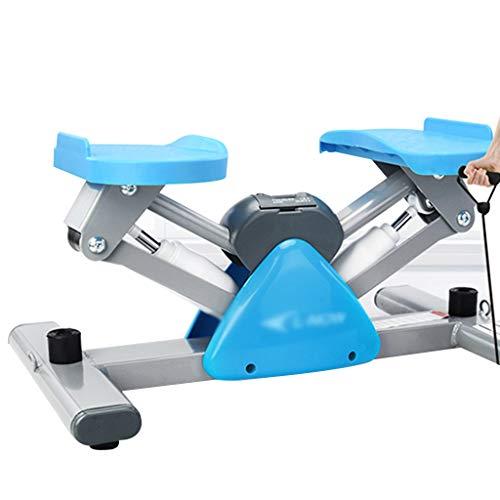 YUESFZ Stepper Crosstrainer Stepper Test Mini-Stepper Vom Typ V Haushaltsstille Hydraulische Pedalmaschine Keine Notwendigkeit, Fitnessgeräte Zu Installieren (Color : Blue, Size : 50 * 32 * 25cm)