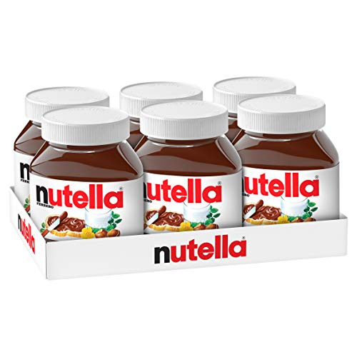 Nutella Hazelnut Spread with Cocoa, Jar, 750g (pack of 6)