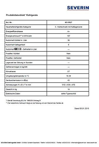 Severin KS 9827 Mini-Kühlschrank - 7