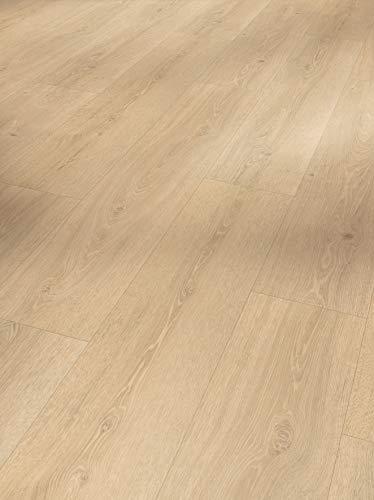 Parador Vinyl Basic 5.3 - Vinylboden Eiche Studioline geschliffen - Hochwertiger, elastischer Bodenbelag in Holz-Optik, leise und komfortabel mit Klick-Verlegung - mit V-Fuge