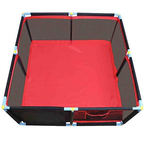 JIMI-I Baby Playpen Centre d'activités pour Enfants Sécurité Play Yard Home Indoor Outdoor (Rouge) (Taille : 128×128×66cm)