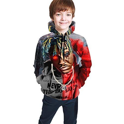 Sudaderas con Capucha Sudaderas de Manga Larga Unisex Niños Juice Wrld Casual Camisa con Estampado Digital 3D Bolsillo Unisex Adolescente Sweate