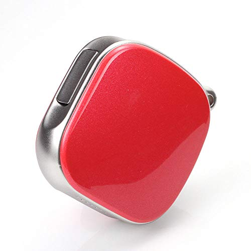 TrailO ™ iSecureAssure - Mini GPS Tracker for Kids, Women, car, pet and Asset Tracking Device,SOS Alarm, 2 Way Talk,Voice Monitoring (Red Color)