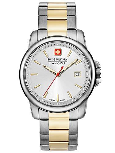 Swiss Military Hanowa Unisex Erwachsene Analog Quarz Uhr mit Edelstahl Armband 06-5230.7.55.001