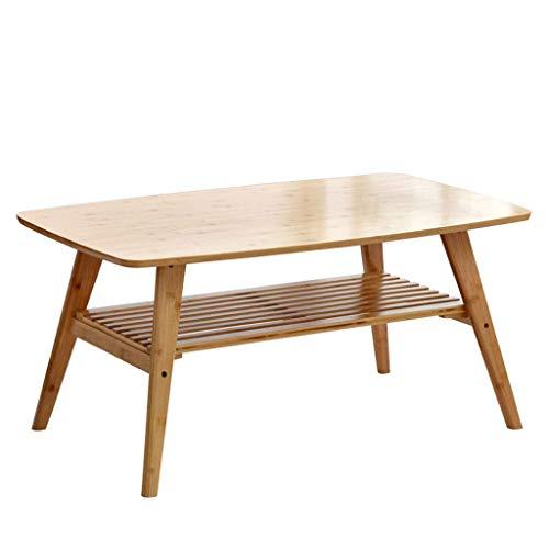 Mesa de centro, mesa auxiliar, estante de almacenamiento para sala de estar, mesa de TV, mesa de sofá rectangular, mesa de oficina, mesa auxiliar de dormitorio, mesa de té (color madera, 100 cm)