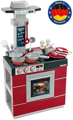 Theo Klein 9044 Miele Küche Kompakt I Kinder-Spielküche mit Ofen, Abzugshaube, Spülbecken und viel Zubehör...