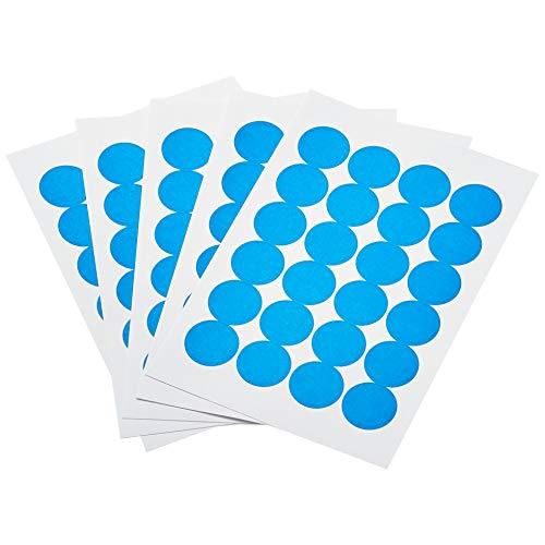 Amazon Basics Print/Write Self-Adhesive Removable Labels, 0.75 Inch Diameter, Light Blue, 1008-Pack