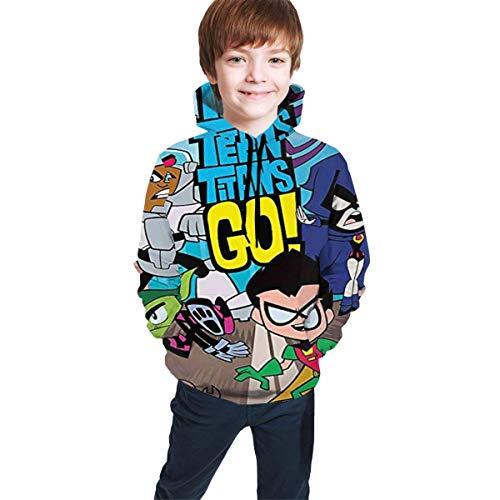 Baofahu Kind mit Kapuze Sweatshirt Jacob Cook Kid's/Youth Hoodies Te-en Ti-tans Go Children's 3D Printing Unisex Pullover Hooded Sweatshirts for Boys/Girls