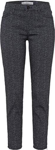 BRAX dames stijl Shakira S Snake Jacquard Five Pocket Sportiv Skinny Jeans, grijs (Clean Grey 9), W38 / L32 (fabrikantmaat: 48)