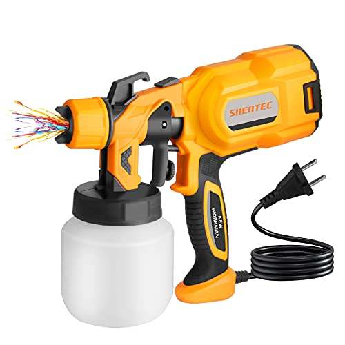 Shentec Paint Sprayer, Spray Gun Home Electric Paint Gun with 800ml Detachable Tank,Widely Used for Fence, Cabinet, Home Painting