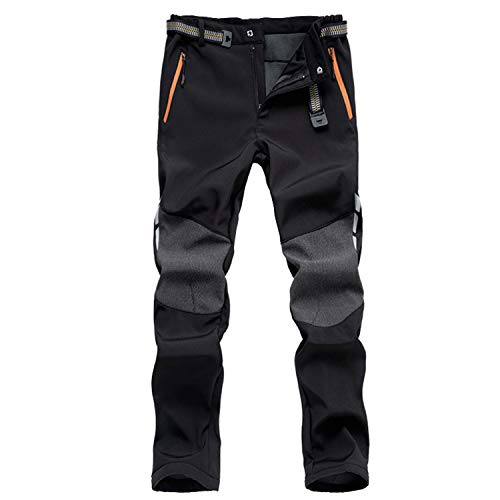 7VSTOHS Men's Outdoor Comfortable Hiking Trousers Windproof Warm Trousers Climbing Walking Casual...