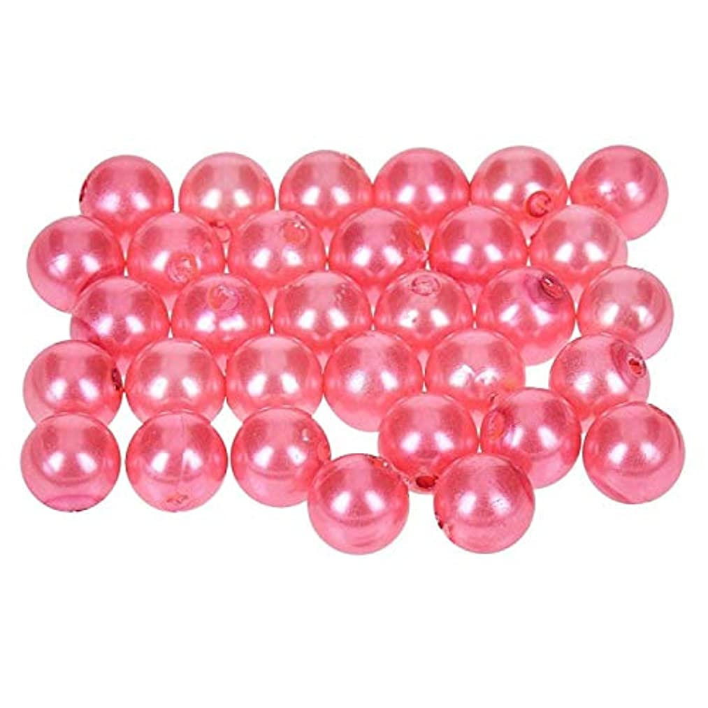 Efco Wax Beads, Plastic, Old Rose, 8 mm Diameter, 32-Piece