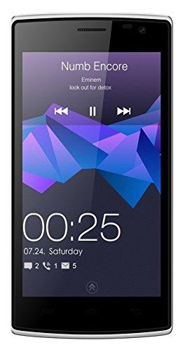 Blackview Breeze, Mobiltelefon mit gekrümmter Oberfläche. 1GB Arbeitsspeicher und 8GB ROM-Speicher (erweiterbar) Verfügt über eine 8-Megapixel- und eine 5-Megapixel-Kamera. 4,5-Zoll-Bildschirm und 2000mAh-Akku.