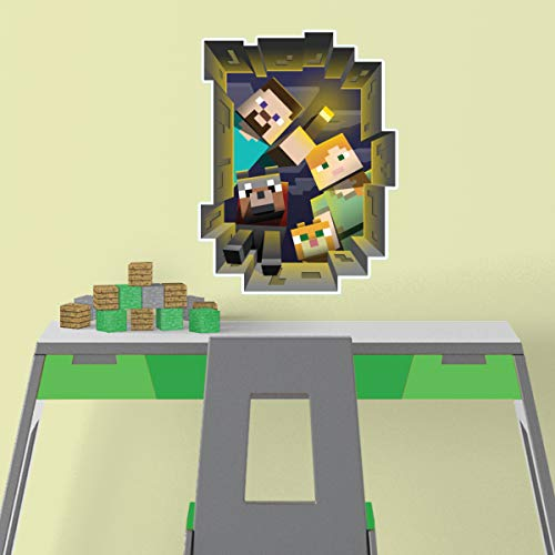 Trends International Minecraft Caved in - ROOMSCAPES Poster Decal 18x24, Multicolor