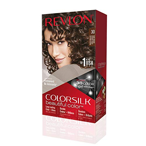Revlon ColorSilk Colorazione Permanente Capelli Fai-da-te a Casa, Senza Ammoniaca e Arricchita con...