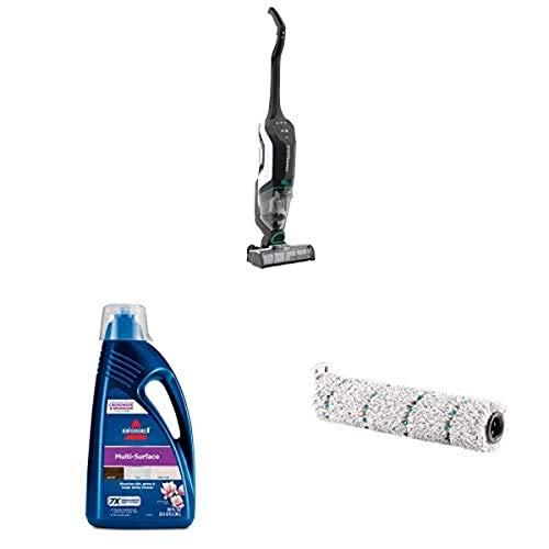BISSELL, 2554A CrossWave Cordless Max All in One Wet-Dry Vacuum Cleaner with BISSELL 1789G MultiSurface Floor Cleaning Formula (80 oz) and BISSELL 2787 CrossWave Cordless Max Mulit-Surface Brush Roll