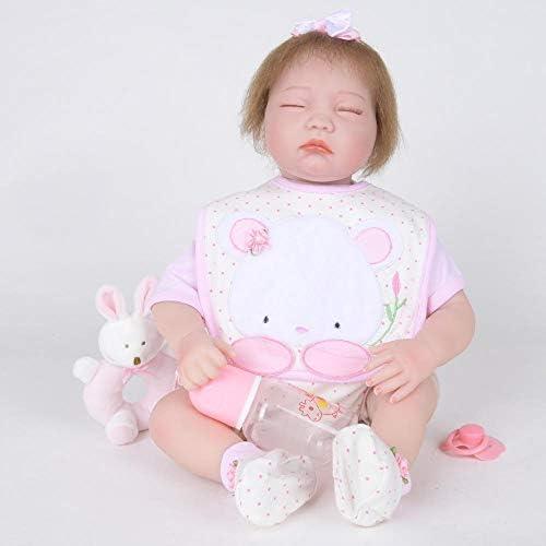 Hongge Reborn Baby Doll,Realistische Baby Reborn Puppe Handmade realistische Weißhe Puppe 55cm