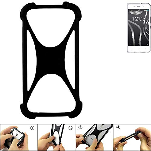 K-S-Trade Handyhülle für BQ Readers Aquaris X5 Plus Schutz Hülle Silikon Bumper Cover Case Silikoncase TPU Softcase Schutzhülle Smartphone Stoßschutz, schwarz (1x)