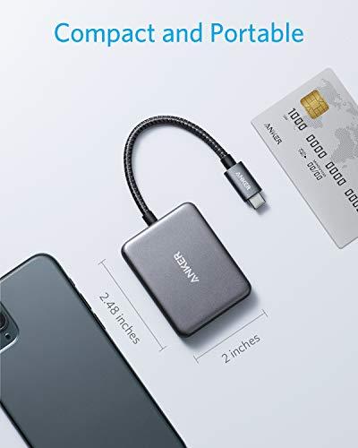 Anker USB-C auf Dual HDMI Adapter, kompakter USB-C Hub, unterstützt 4K@60Hz und Duales 4K@30Hz, kompatibel mit MacBook Pro, MacBook Air, iPad Pro, XPS und mehr, kompatibel mit Thunderbolt 3 Ports