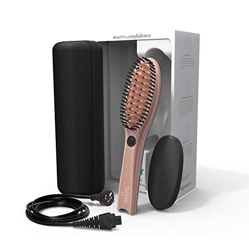 DAFNI Rose Go - Haarglättbürste für unterwegs - stylt das Haar bis zu 10 mal schneller als eine Bügeleisen