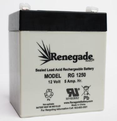 RENEGADE RG-1250; Lawn & Garden; 725-04903 MTD Replacement Battery
