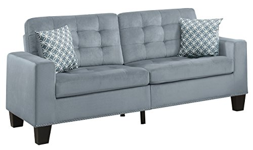 Homelegance Lantana 72' Fabric Sofa, Gray