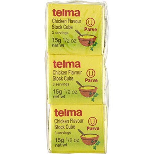 Telma Chicken flavor Stock Cubes, Parve. Kosher for Passover. 3/0.5-Ounce Cubes (Pack of 12)