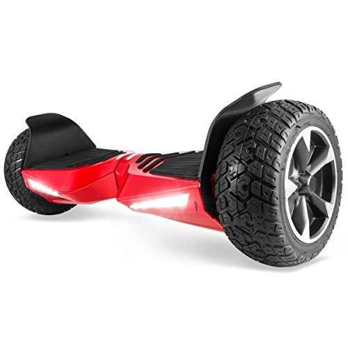 XtremepowerUS 8.5' Off Road Hoverboard w/Bluetooth Speaker and LED Light (Black)