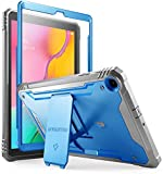 Galaxy Tab A 10.1 Rugged Case with Kickstand, Built-in-Screen Protector, Revolutions, Poetic Full Body Heavy Duty Shockproof Protective, Case for Samsung Galaxy Tab A 10.1 (2019 Release), Blue/Gray