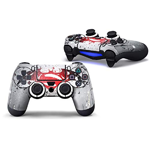 PS4 Controller Skin Vinyl Sticker Decal Cover for Playstation 4 Controller-Superman & Batman-2 Pcs