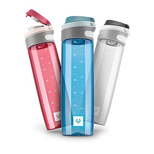 Alphatrail Botella Agua Tritan Jay 750ml Azul 100% Prueba de Fugas I sin BPA & Ecológicamente I Seguro Lavavajillas I para una hidratación óptima en la Vida Diaria