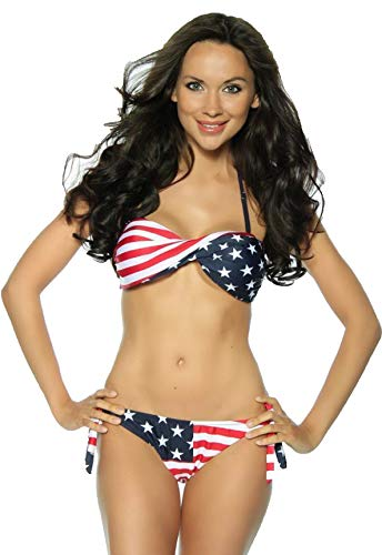 Alaani USA Flag United States of Amerika Bikini (M)