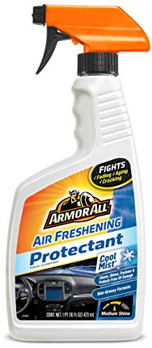 Armor All Car Air Freshener and Cleaner - Odor Eliminator and Protectant for Cars & Truck, Cool Mist, 16 Fl Oz Spray Bottles, 78511