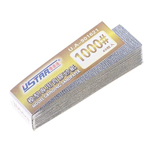 HomeDecTime U-Star UA-1601 Papel de Lija Autoadhesivo de Grano 1000 Modelo de Papel de