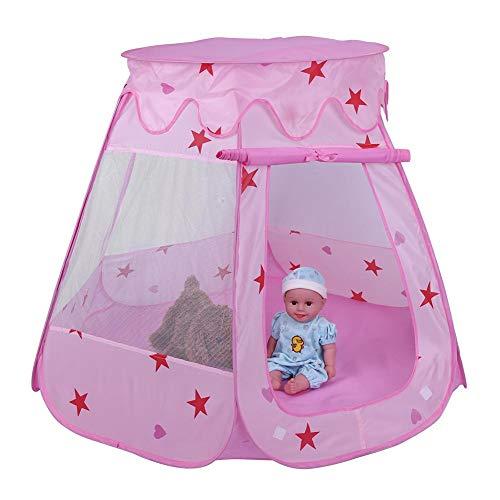 Speeltent voor kinderen Opvouwbaar Baby Kinderen Speelhuisje Draagbaar speelgoed Spel Speelkamer Jongens Meisjes Verjaardagscadeau voor binnen en buiten(Rood)