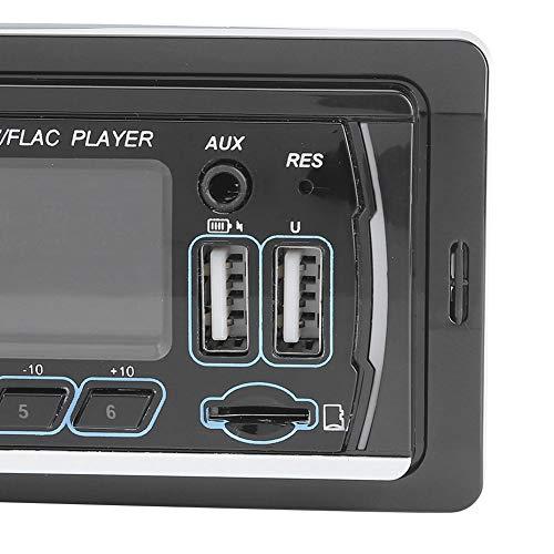 Snufeve6 Reproductor Multimedia para automóvil, Luces de Colores Pantalla LCD Reproductor de música para automóvil Reproductor de MP3 Estéreo para Sistema de Audio para reproducción de música