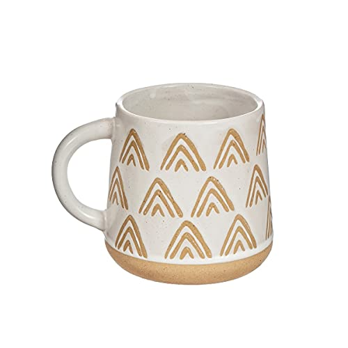 Sass & Belle Wax Resist Triangles White Mug
